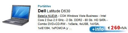 Ordenadores portatiles remanofacturados de Ocasión.10